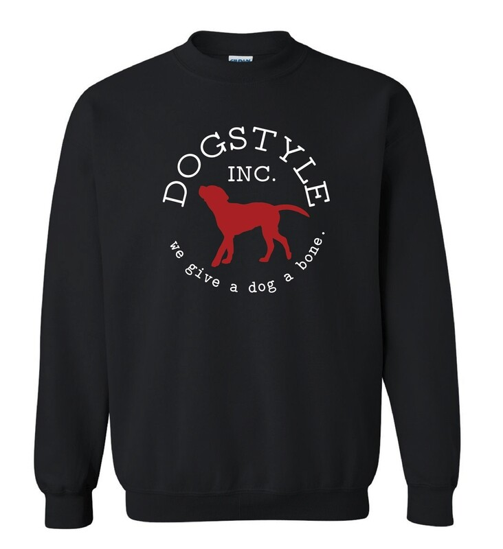 Dogstyle Crew Neck Sweatshirt - Black