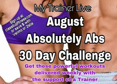 Core Ab-solutely  August Challenge (One Month)