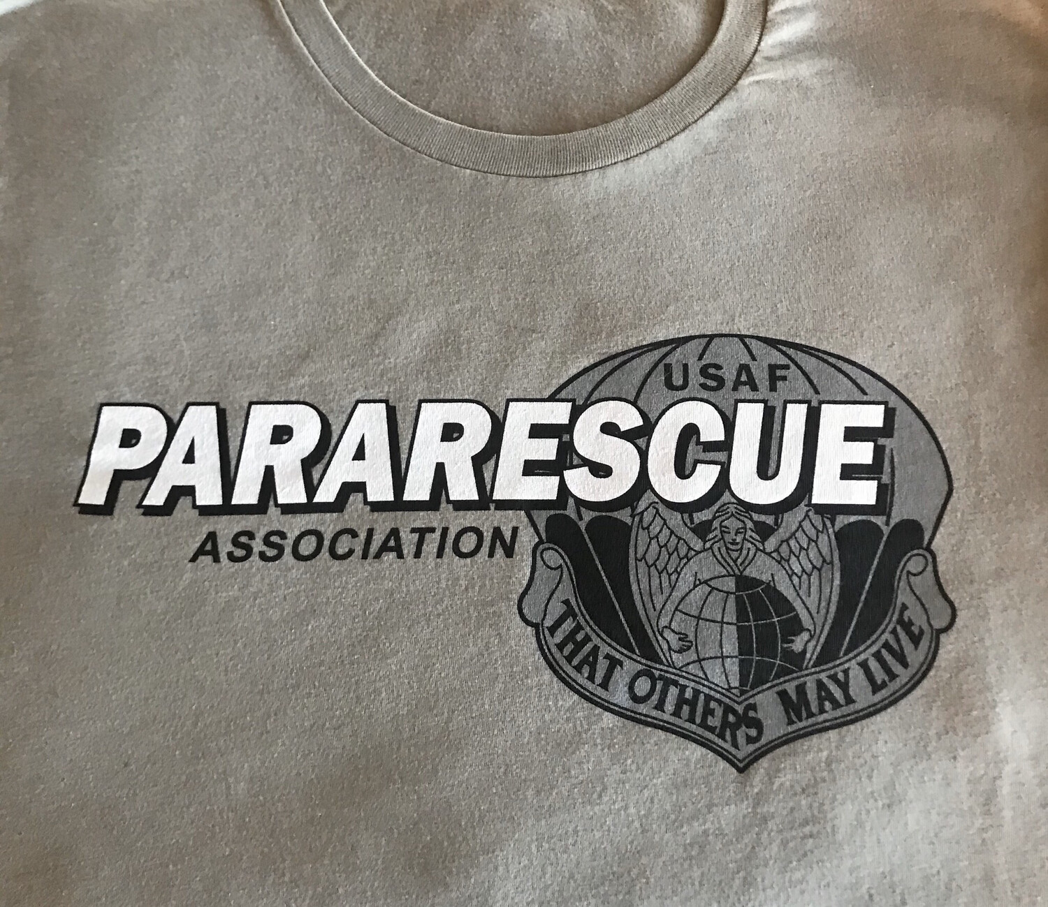 pja/ T-Shirt Green PJA Pararescue Motto