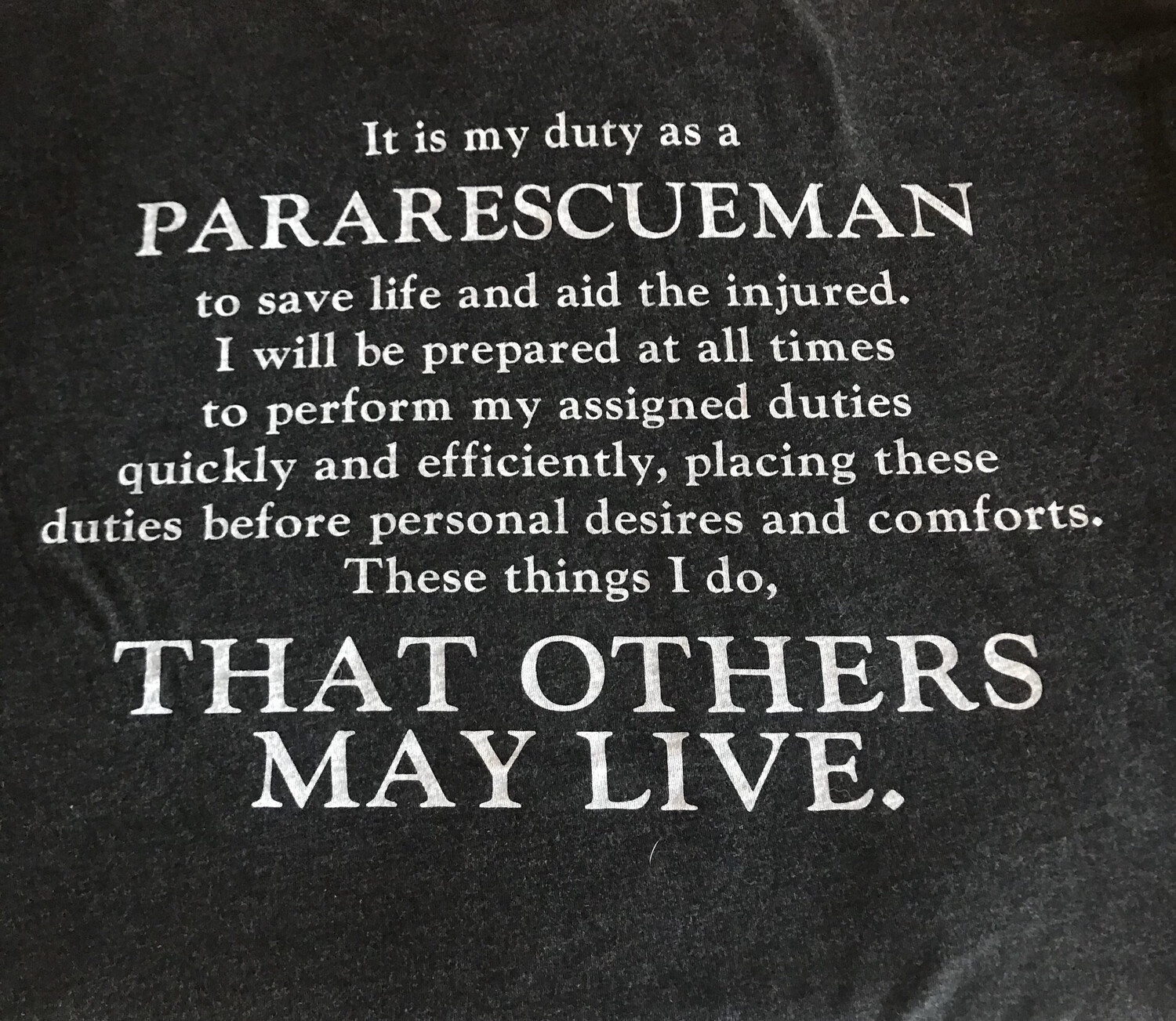 pja/ T-Shirt Black PJA Pararescue Motto