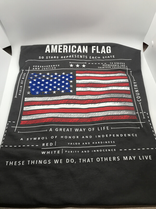 pja/ T-Shirt Taupe (Gray-Brown) American Flag