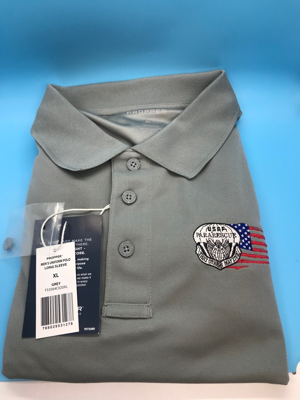 pja/ Polo Shirt PJ Tactical Long Sleeve Shirt  PJ Flash & Tattered Flag