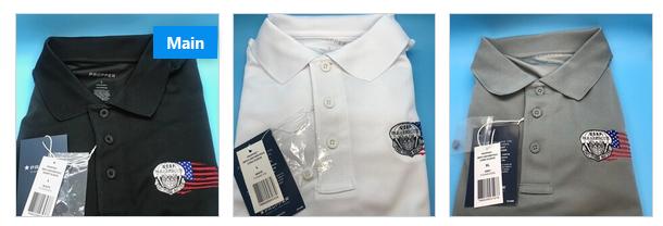 pja/ Polo Shirt PJ Tactical Short Sleeve Shirt  PJ Flash & Tattered Flag