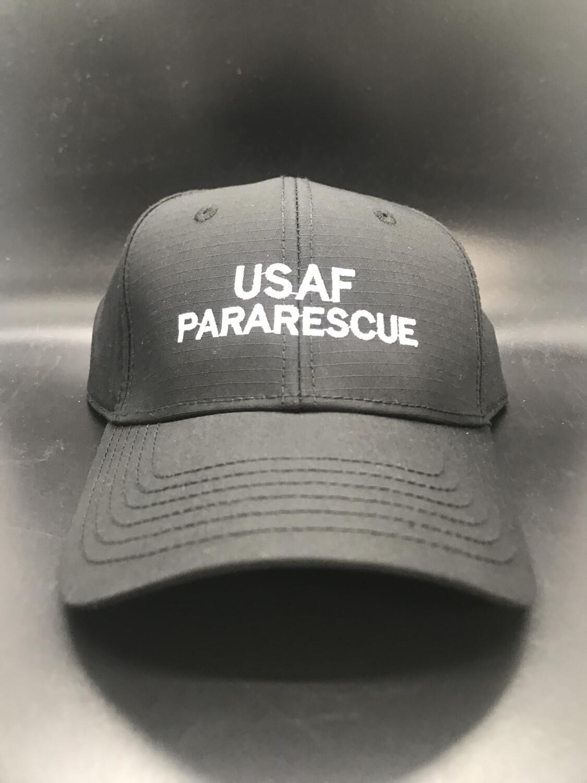 pja/ Cap - PJ Inspired Black Cap w/USAF Pararescue