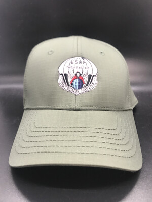 pja/ Cap - PJ Inspired Green Cap w/USAF Pararescue Flash