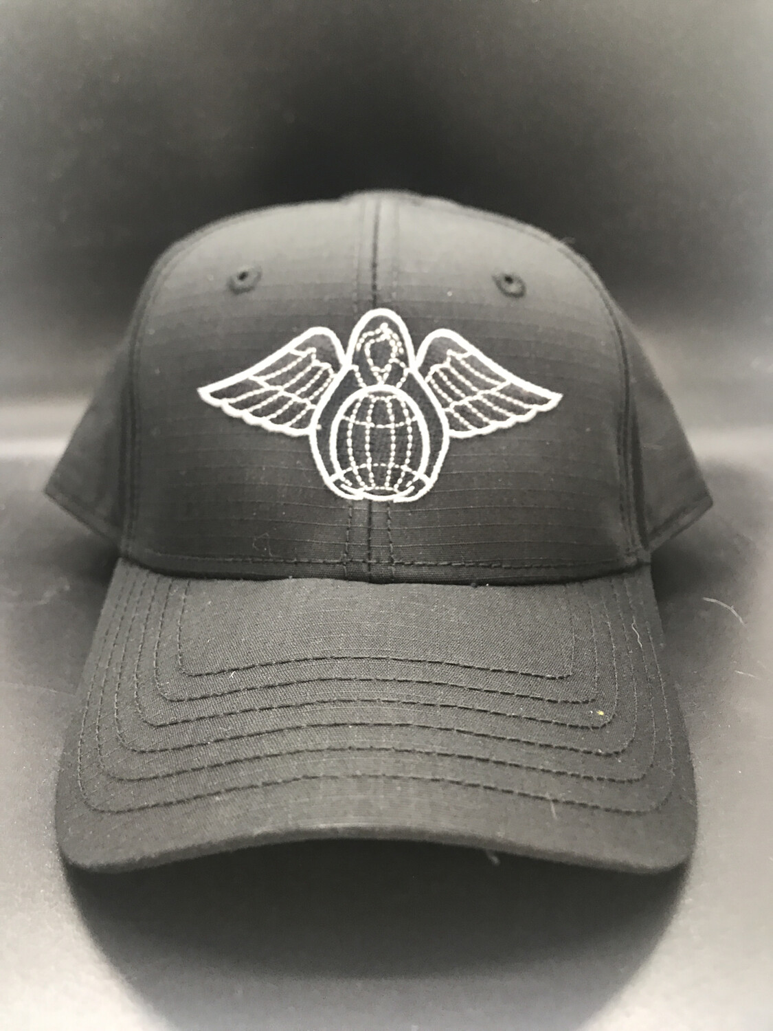 pja/ Cap - PJ Inspired Black Cap w/Guardian Angel