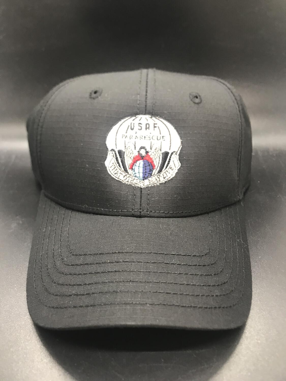 pja/ Cap - PJ Inspired Black Cap w/USAF Pararescue Flash