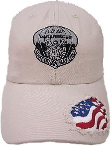 pja/ Cap - PJ Inspired Tan Cap w/embroidered American Flag