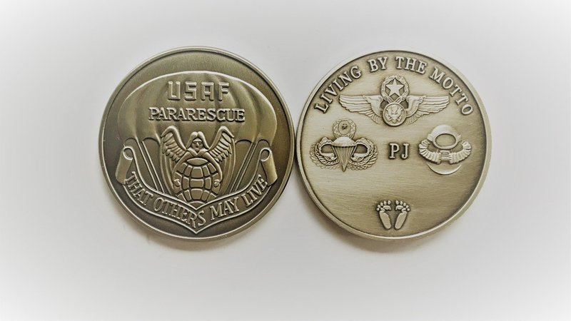 pja/ Challenge Coin - PJ Brass/Bronze