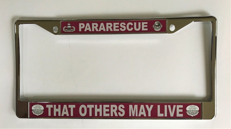 pja/ License Plate Frame - Pararescue