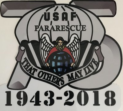 dsp/ Sticker ParaRescue 75th Anniversary  (2 stickers)