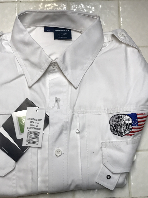 pja/ Shirt - PJ Flash & Tattered Flag Long Sleeve Tactical Shirt/Large