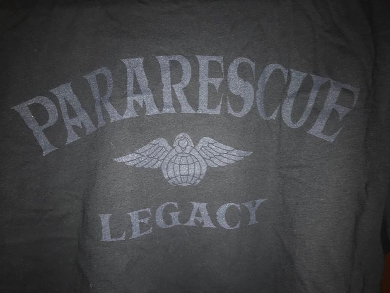 "pja/ T-Shirt Black ""Pararescue Legacy"""