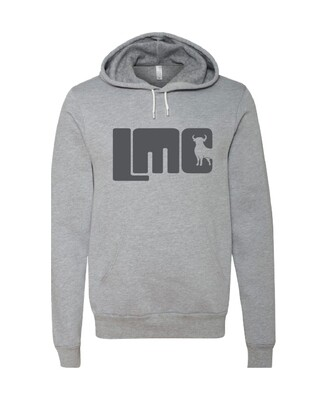 LMC Gray Bull Hoodie with Dark Gray Logo-  Adult Small