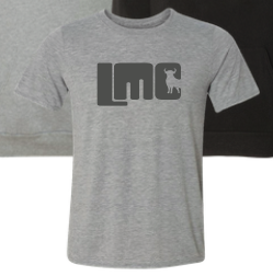 Grey LMC Logo with Bull T-shirt- Adult Small