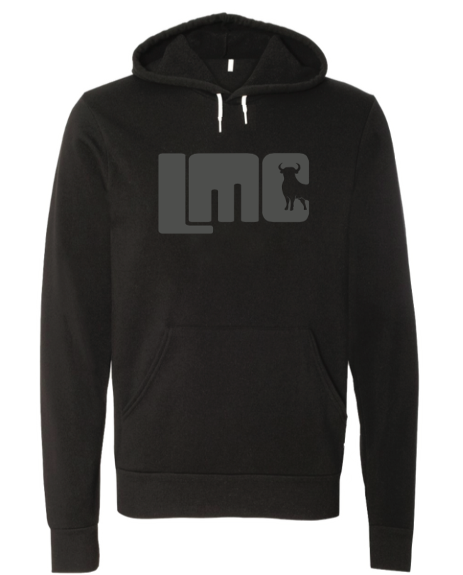 LMC Black Hoodie with Gray Logo- Youth Large