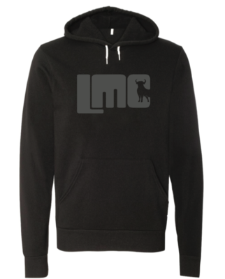 LMC Black Hoodie with Gray Logo- Adult XL