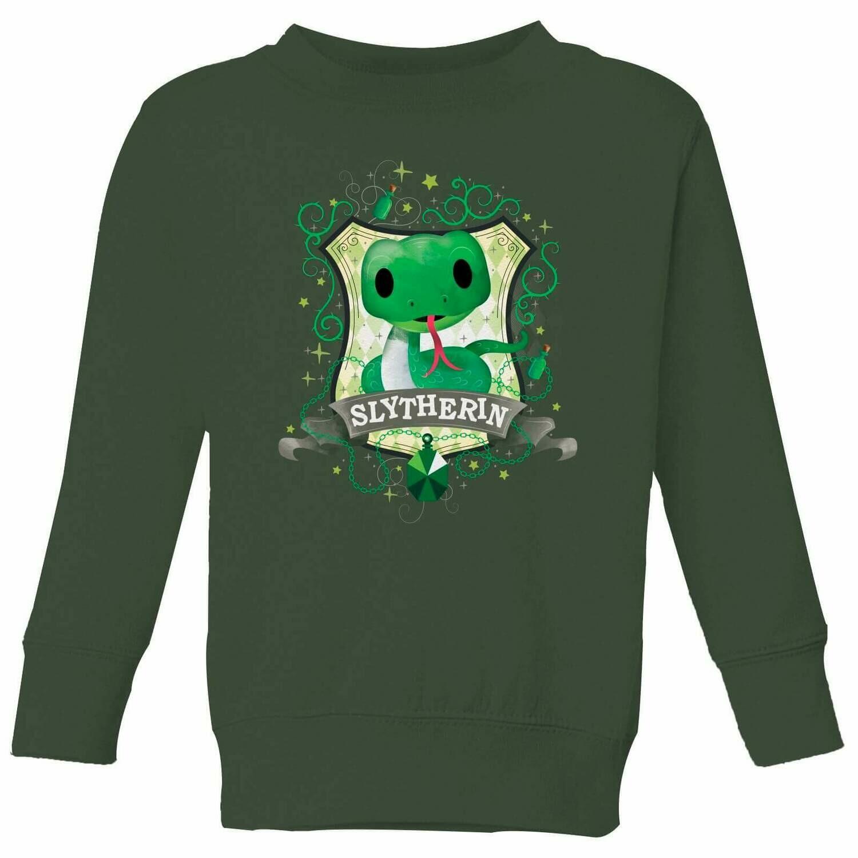 Harry Potter - Slytherin Crest - Jumper - Forest Green