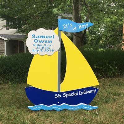 Sailboat Sign Complete