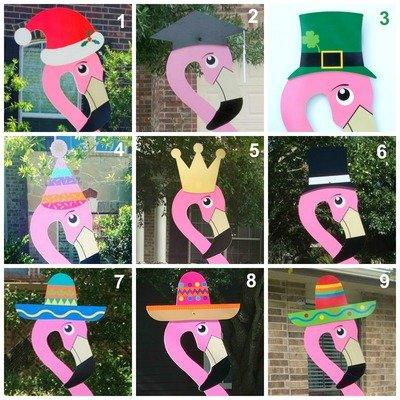 Flamingo Hats