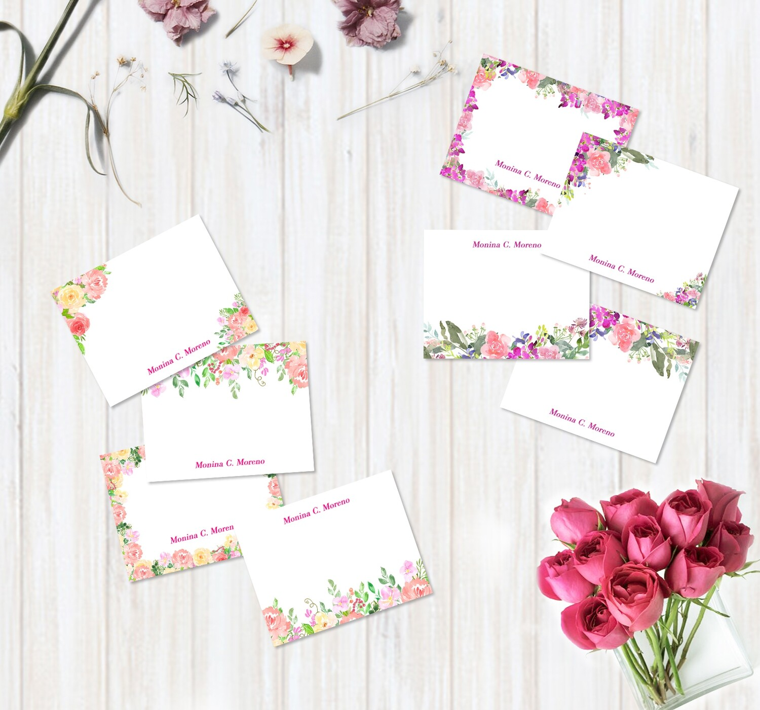 Floral Flat Note Card