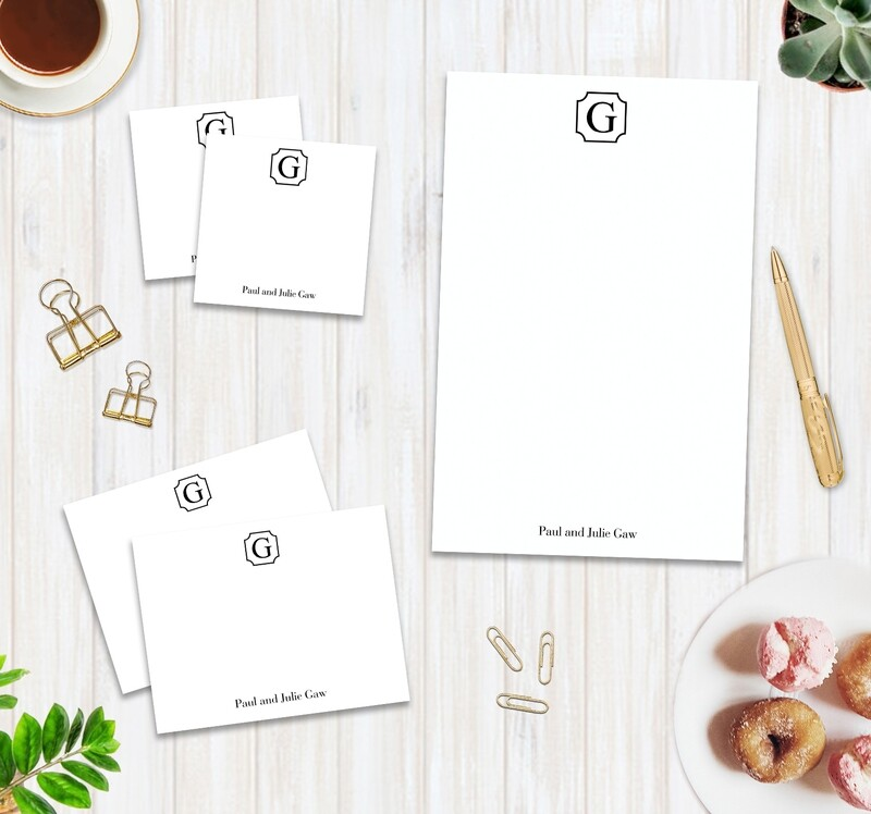 Monogram Stationery set