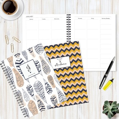 Undated Personalized Planner