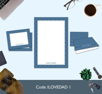 Father's Day Full Color Stationery Set
