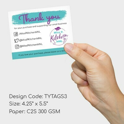 Thank You Card (C2S 300gsm, full color)