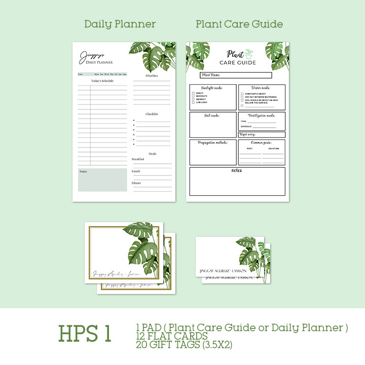 Home Plants Stationery Set
