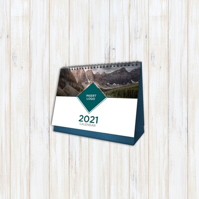 """Desk Calendar with Stand - 26 Pages; 13 photos -  (8.5"""" x 5.75"""")"""