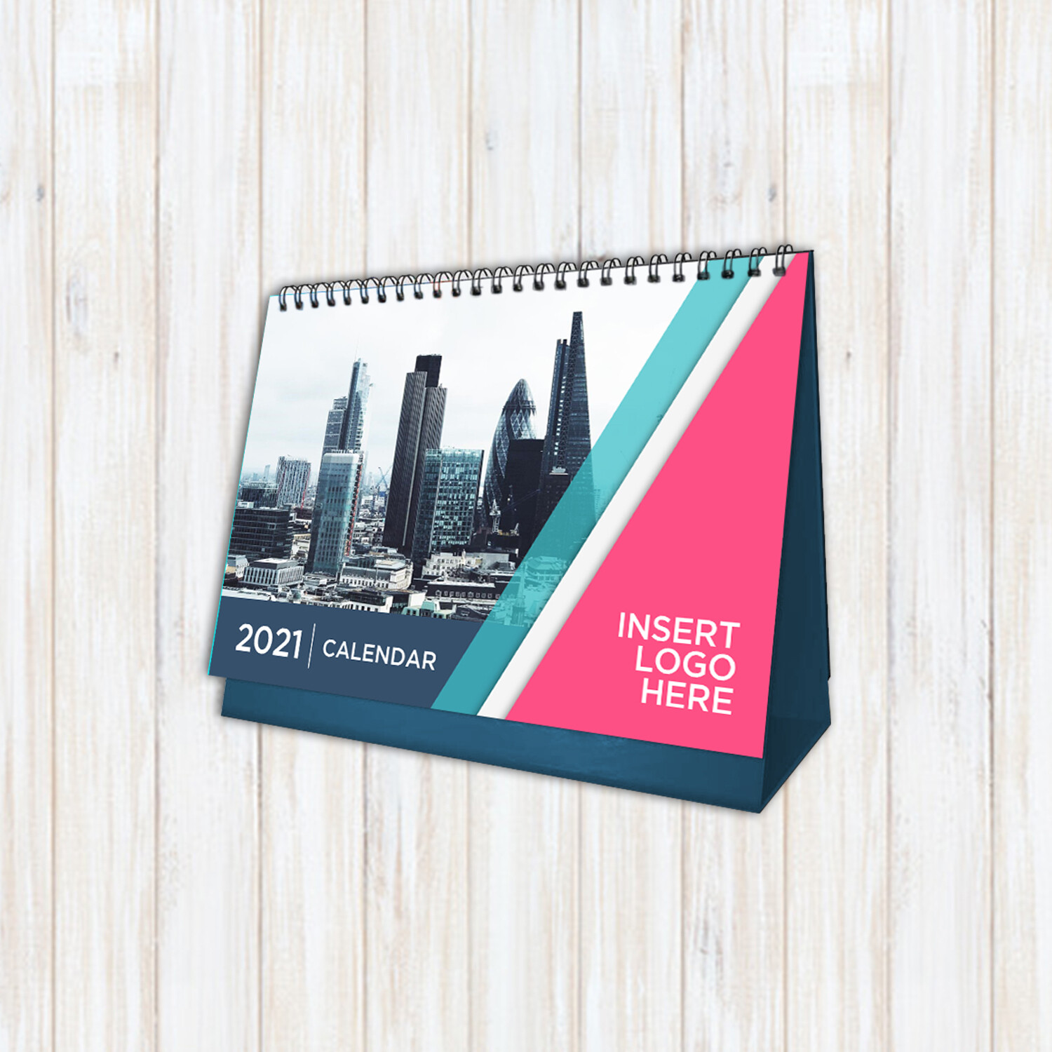 "Desk Calendar with Stand - 26 Pages; 13 photos -  (9.53"" x 6.77"")"
