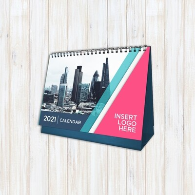 """Desk Calendar with Stand - 26 Pages; 13 photos -  (9.53"""" x 6.77"""")"""