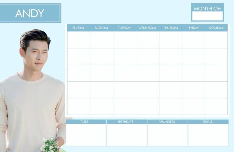 Oppa Undated Personalized Desk Calendar