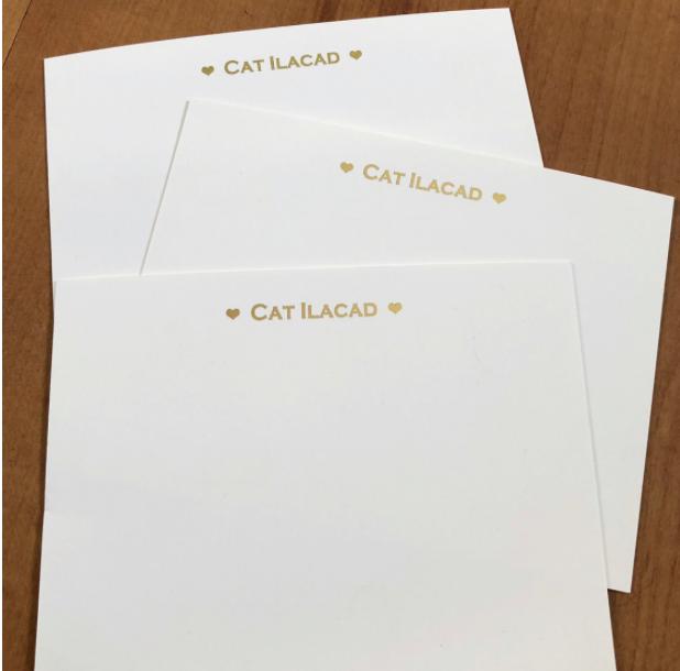 Gold Foil Flat notecard