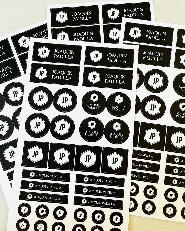 Monogram Labels ( waterproof)