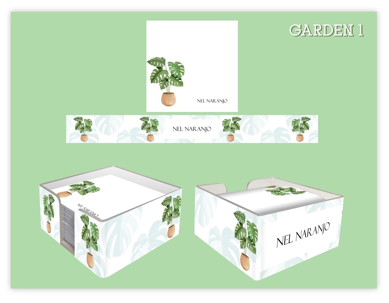 Memo Cube Pad - Home Plants