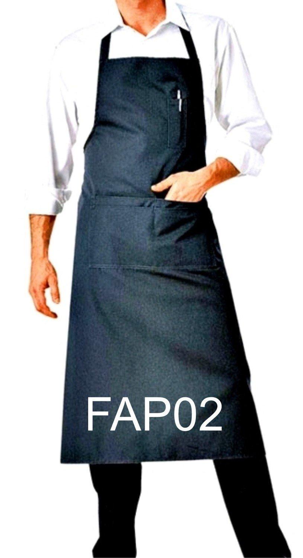 FAP02 BIB APRON BLACK