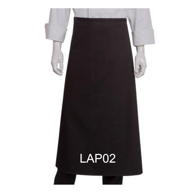 LAP02 LONG APRON BLACK