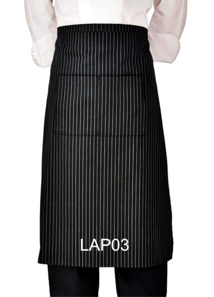 LAP03 LONG APRON PINSTRIPE