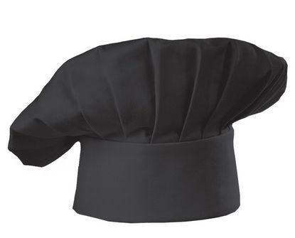CC02 CHEF CAP BLACK