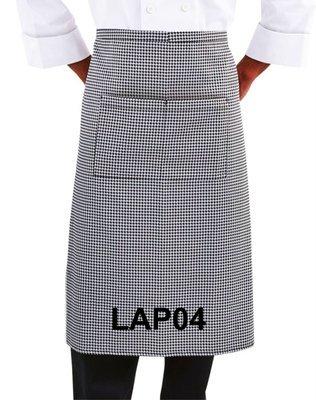 LAP04 LONG APRON CHECKERED