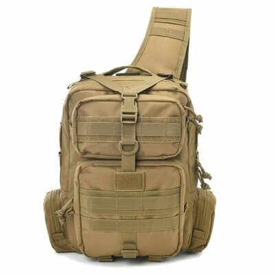 TACTICAL SLING BAG MOLLE - TAN - FREE SHIPPING