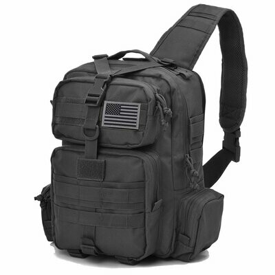 TACTICAL SLING BAG MOLLE - BLACK FREE SHIPPING
