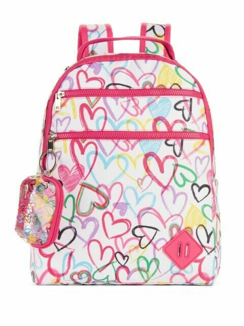 No Boundaries Multi Heart Dome Backpack  FREE SHIPPING