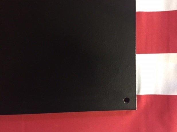 "AR500 Ballistic Steel Tile NIJ III 1//4/"" thick size 16/"" x 16/"" Color Black Matte"