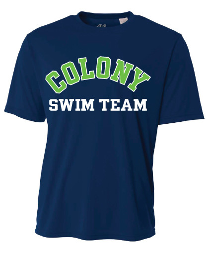 Colony Swim Team A4 Cooling Performance T-Shirt - Navy