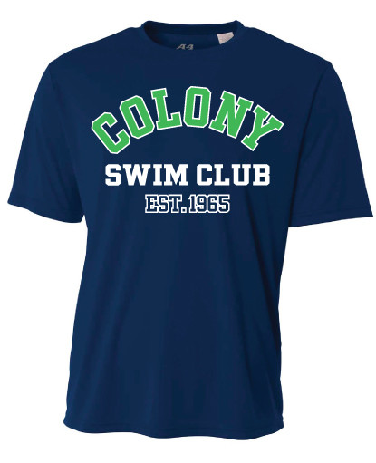 Colony Swim Club Cooling Performance T-Shirt - Navy Blue