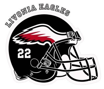 "Eagles Helmet Car Decal 5"" tall"
