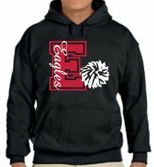 Eagles Cheer Design 2 Fleece Hoodie